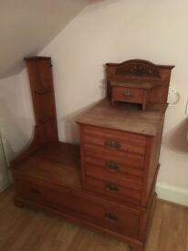 Beautiful antique wood dressing table
