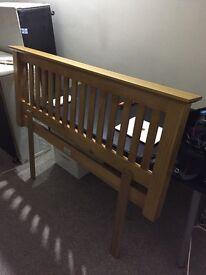 Julian Bowen Pine Headboard Standard Double Bed Size (135cm) (106cm between fixing points)