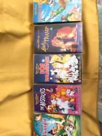 Retro Walt Disney VHS Collectable films