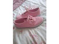 Girls pink vans size 5
