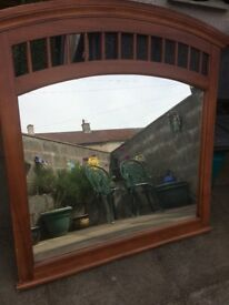 Large mirror with wood frame *REDUCED PRICE*