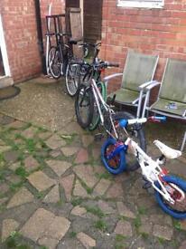27 inch / 26 inch /24 inch and a 14 inch bike £100 ono