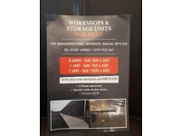 WORKSHOP AND STORAGE UNITS TO LET