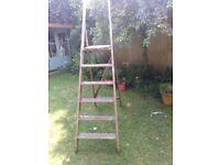 Shabby chic wooden ladder