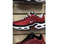 Nike air max TNs red/wht/blk uk 6,7,8,8,10