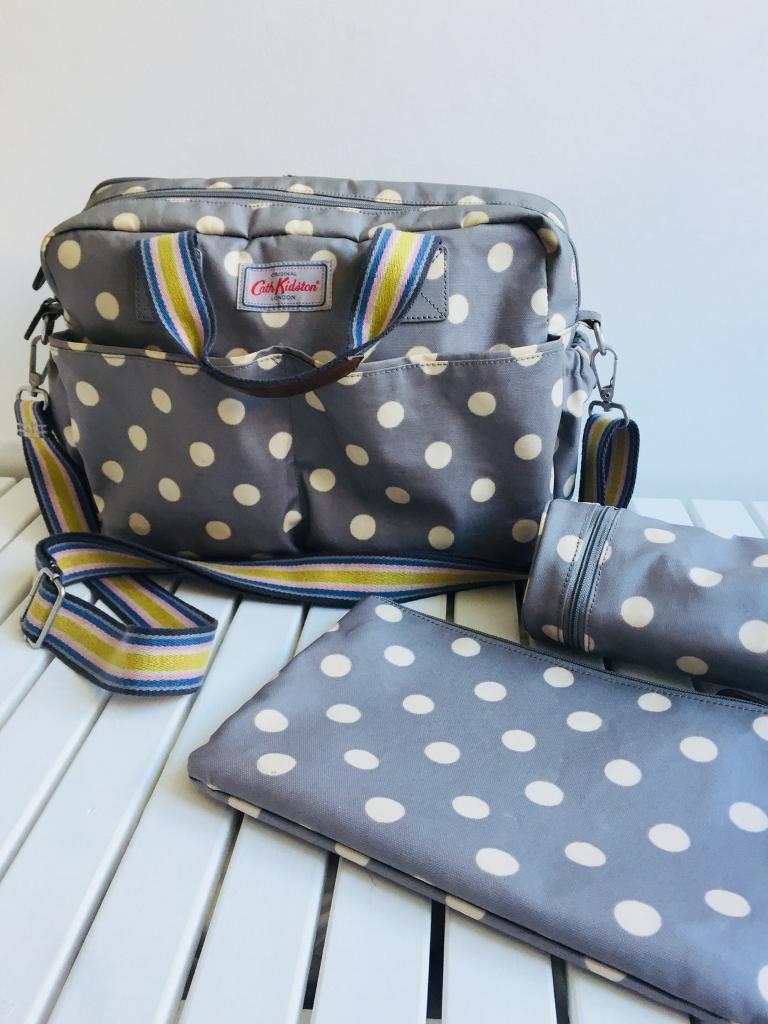 c4f00995ef4b0 EXCELLENT CONDITION! - Cath Kidston changing bag grey polka dot ...