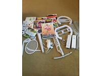 Wii accessories and games bundle