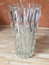 Lovely heavy glass vase. Italian make.