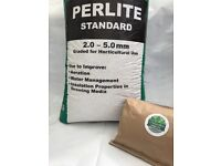 PERLITE - Aeration & Drainage Improver for Garden/Soil/Plants/Roots/Hydro/Mediums 100% ORGANIC 5L