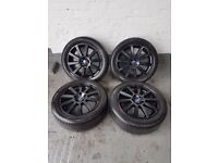 FORD 17 ALLOYS WHEELS & TYRES 5x108 MONDEO GALAXY FOCUS CONNECT VOLVO