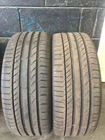 Continental contact sport 5 tyres. X2 225/45/18
