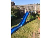 Slide and climbing frame