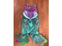 Little mermaid dress up costume 8-10 years