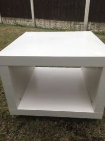 IKEA cube style tv stand in white