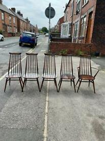 Set of Ercol dinning chairs