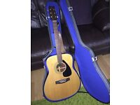 Yamaha FG160 Acoustic Guitar with hard case.