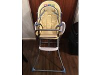High chair ideal for 0-4 years