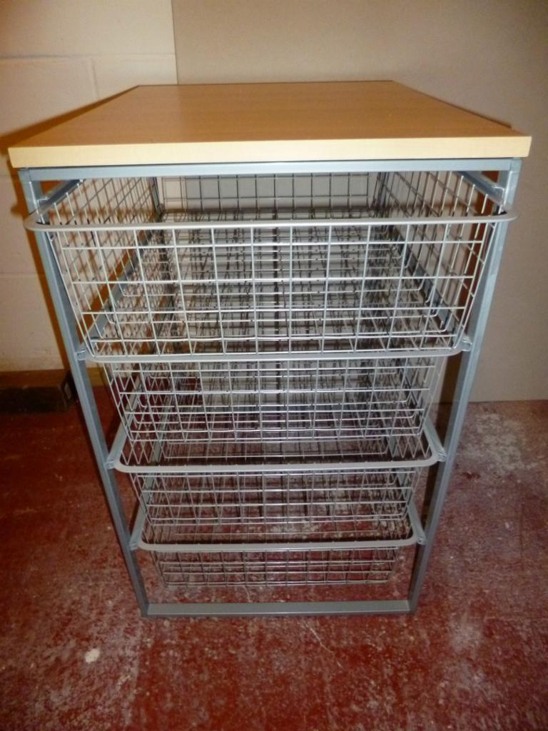 Ikea Antonius Storage Unit Amp 4 Chrome Baskets In