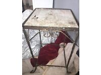 Small iron table