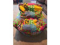 Patchwork Beanbag Chair