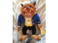 Disney store beauty and the beast 'beast' soft toy