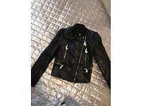 Ladies Zara leather jacket (Small)