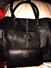 Mulberry hand bag an purse
