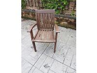 Solid wooden garden chairs