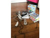Nintendo wii plus selection of 7 games