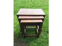 Set Of Dark Wood Tables