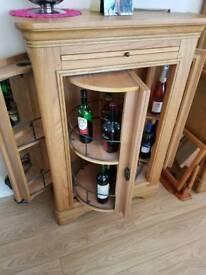 Drinks cabernet solid Oak furniture fantastic condition Alan wards Northwich