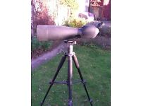 Bresser 25/75 x 90 spotting scope with tripod and case