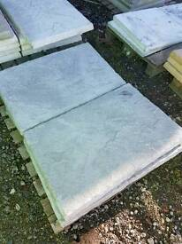 Brand new 3x2 concrete Riven paving slabs