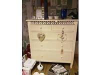 Beautiful cream french style, belgravia shabby chic drawers