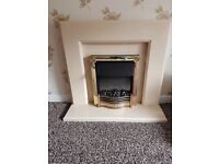 Dimplex Electric Fire and Marble Fireplace