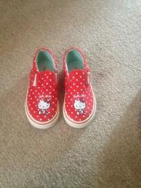 Girls hello kitty shoes size 8