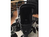Quinny Buzz Rocking black with cot attachment