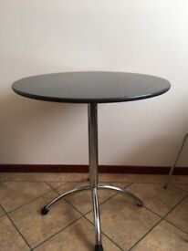 tv wall bracket, single headboard, black granite dining table and chairs, wardrobe, cd player