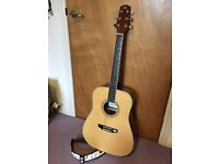 Acoustic Guitar with Strap and Carry Case