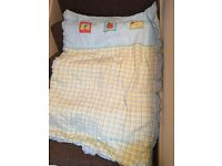 Cot bumper and matching Quilt