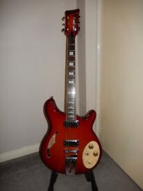 Italia Guitars Rimini 6 in Cherry Sunbusts, with quality padded gigbag in As New Condition.
