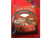 Disney cars sing along book and cd new