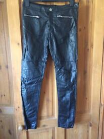 Leather look Jeans by H and M