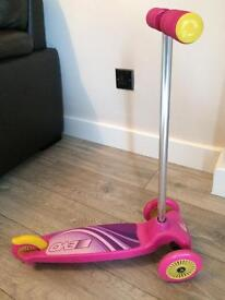 Girls first scooter