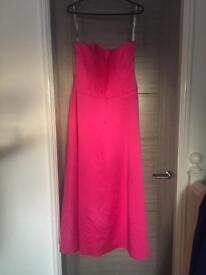 Pink strapless evening/prom/bridesmaid dress