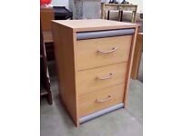 Chest of 3 drawers with grey bars