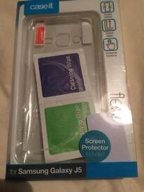J5 Phone Case & Screen Protector