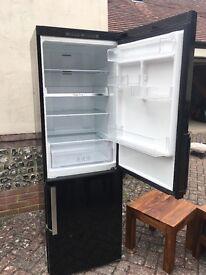 Black Samsung modern fridge freezer tall