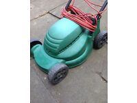 Electric lawnmower working and can deliver.