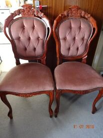 2 X WOODEN DINING CHAIRS